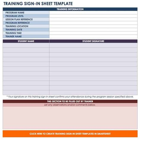 sign   sign  sheet templates smartsheet