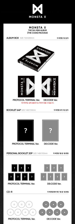 monsta x album list in order monsta x 5th mini album the code cd poster ver de code