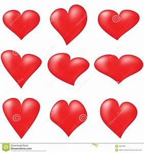 Red Hearts Stock Vector - Image: 48673821