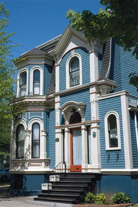 sky blue paint color ideas for ornate victorian houses this house