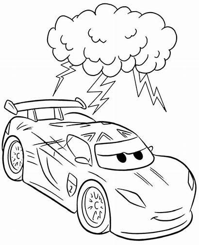 Lightning Cars Mcqueen Coloring Character Mc Queen