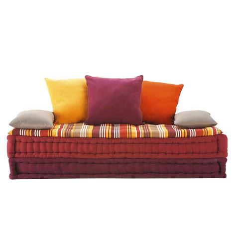 canapé matelas tapissier banquette 2 3 places en coton multicolore provence