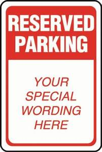 reserved parking sign template related keywords reserved With reserved parking signs template