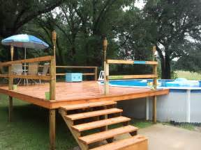 above ground pool deck kits our agp and deck install above ground pools trouble free