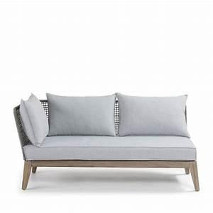 Canape d39angle bois et corde indoor outdoor tucson by drawer for Tapis de souris personnalisé avec canapé terrasse bois
