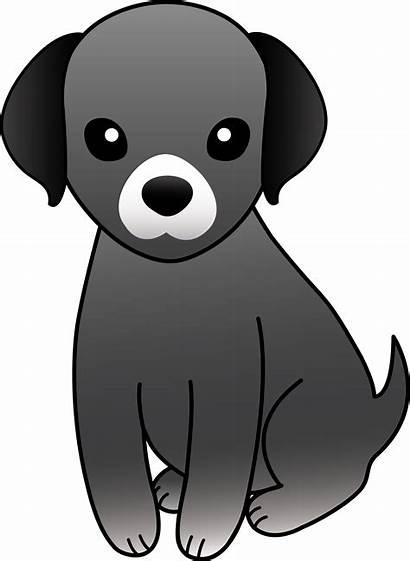 Dog Puppy Clipart Gray Grey Clip Cliparts