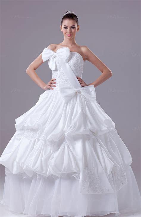 white gorgeous church ball gown zipper taffeta floor