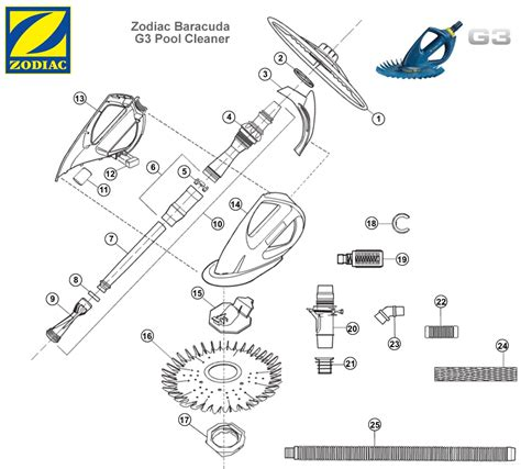baracuda zodiac  pool cleaner parts