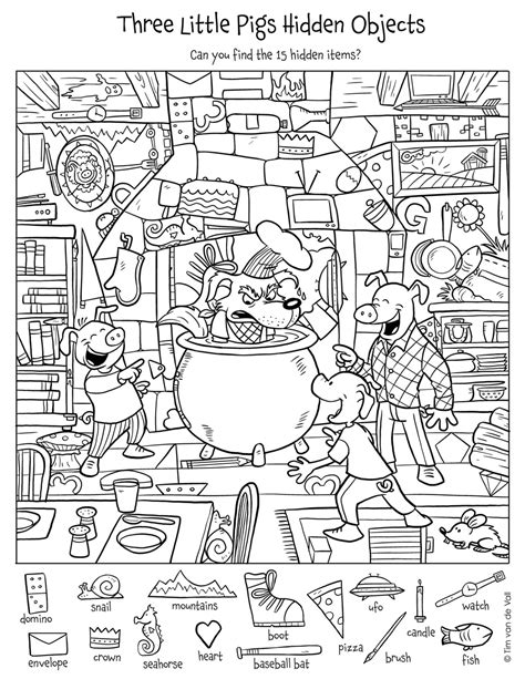 objects puzzle tim s printables