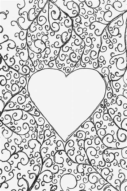 Coloring Hearts Pages Printable Valentine Filminspector