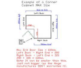 corner pantry 2350x1000x1000 bifold door 5x shelf