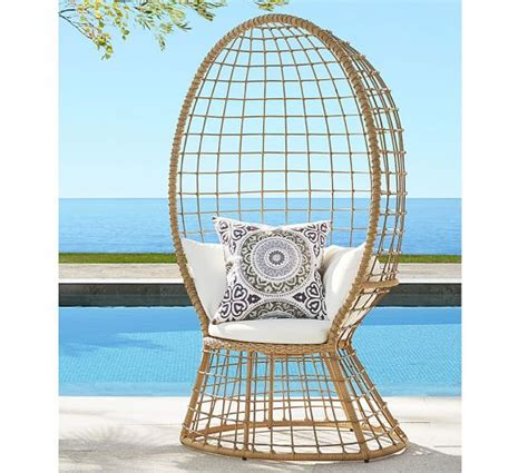 peacock all weather wicker chair pottery barn