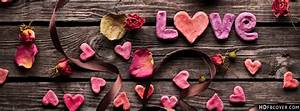 Love roses on wooden wall cover photos - Love fb covers