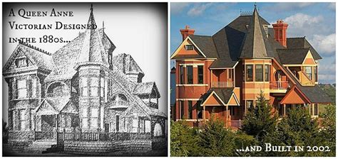 queen anne victorian designed    built