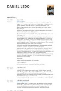 exle of a sous chef resume sous chef resume sles visualcv resume sles database