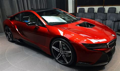 Bmw I8 In Lava Red Color Is Delivered In Abu Dhabi