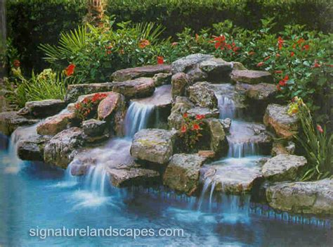 swimming pool waterfalls pictures swimming pools