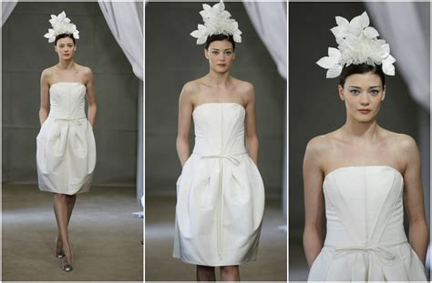 Dare To Bare In A Short Wedding Dress