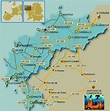 Map of Costa da Morte, in the Atlantic coast of Galicia ...