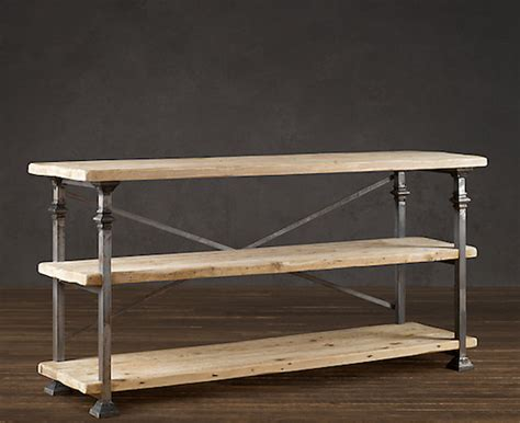 restoration hardware sofa table restoration hardware bakers rack console look 4 less