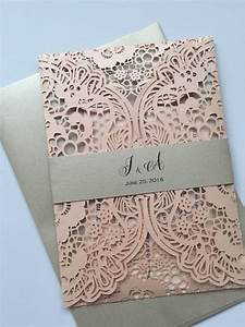 the 25 best lace wedding invitations ideas on pinterest With how much are laser cut wedding invitations