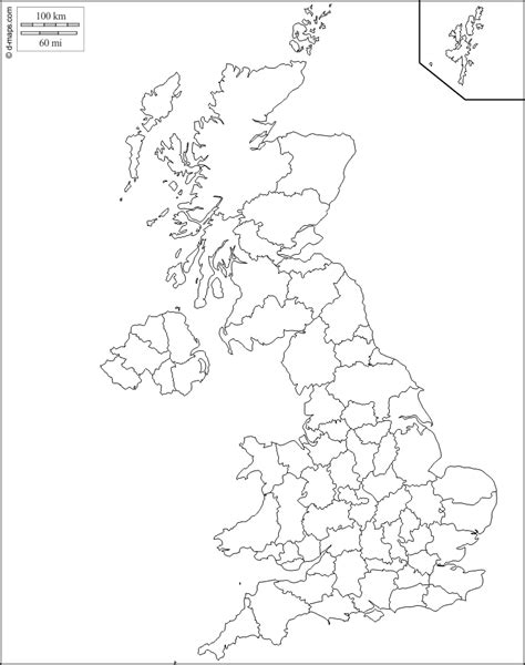 united kingdom  map  blank map  outline map