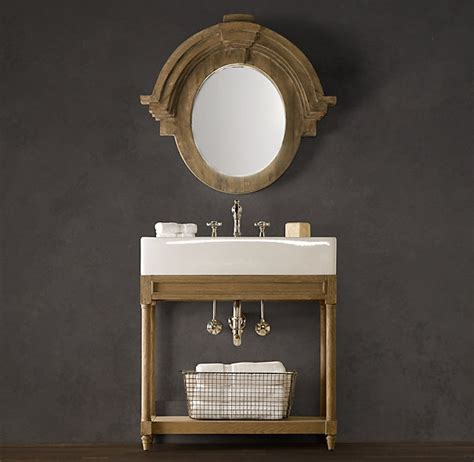 Restoration Hardware Bathroom Vanity Single Sink by Sink Console Weathered Oak Homes Decoration Tips