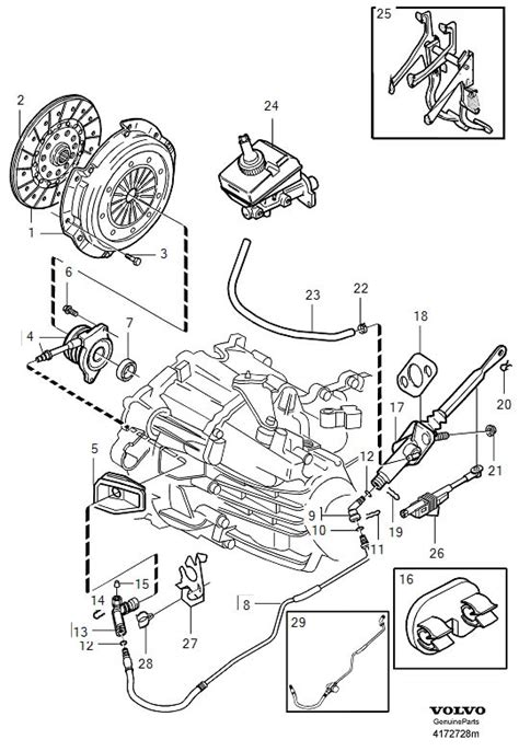 volvo  clutch starter safety switch position sensor