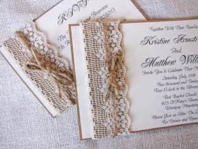 rustic country wedding invitations handmade rustic lace wedding invitations ipunya