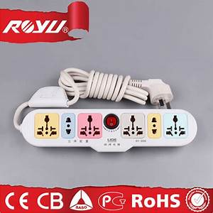 China Flat Wire Extension Cord Multi Function Socket