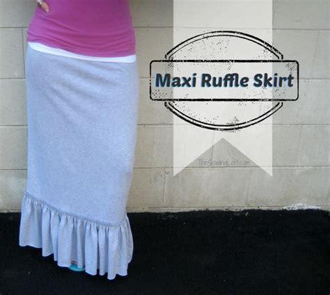 ruffle maxi skirt tutorial favecraftscom