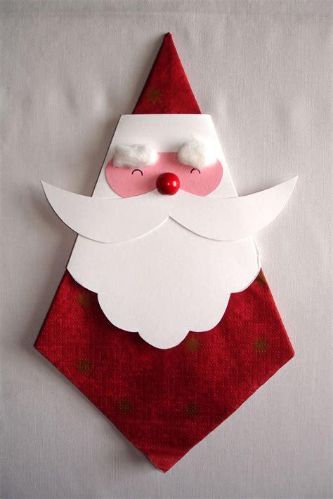 servietten nikolaus diy weihnachten basteln weihnachtsmann basteln und nikolaus basteln
