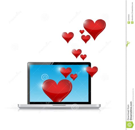 computer love connection internet communication stock