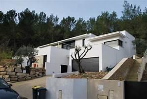 plan de maison individuelle sur terrain en pente maison With construction maison sur terrain en pente