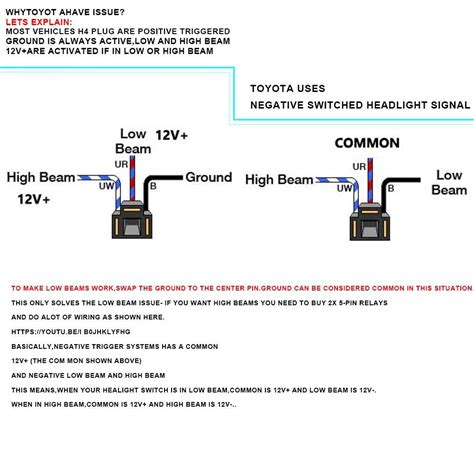H4666 Wiring Diagram by 7x6 Quot Led Headlight L Sealed Hi Lo Beam To Work For Dodge