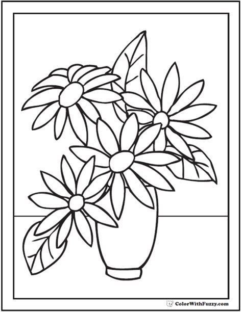 flower coloring pages customize  print