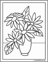 Coloring Flower Zinnia Printable Getcolorings sketch template