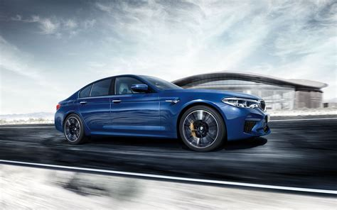 2019 Bmw M5 Blue Color Side View Fhd Wallpaper Latest
