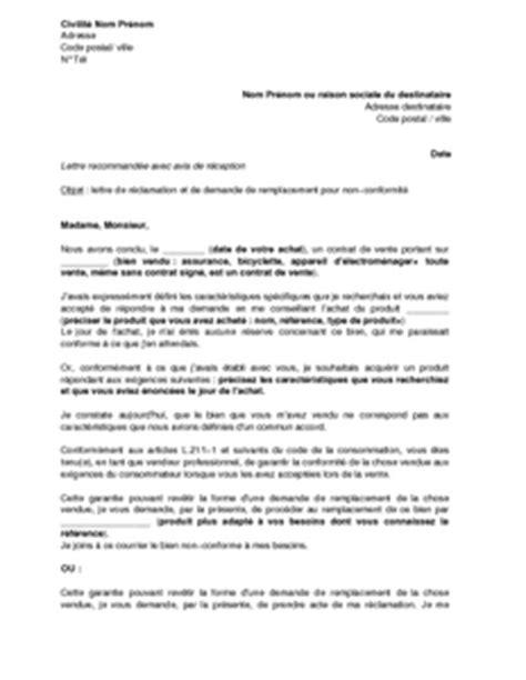 modele de lettre substitution compromis de vente exemple gratuit de lettre r 233 clamation et demande