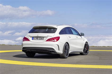 The new cla 45 shooting brake is already the third model of our completely new performance compact cars portfolio and demonstrates that we have a range tailored to all types of individual wishes. Mercedes-AMG CLA 45 Shooting Brake (X117) specs & photos - 2015, 2016, 2017, 2018, 2019, 2020 ...
