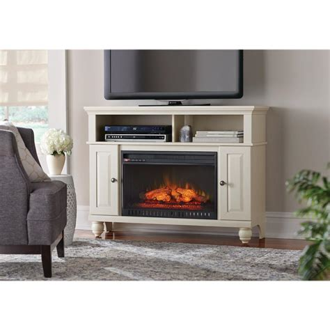electric fireplace tv stand home depot home decorators collection ashurst 46 in tv stand