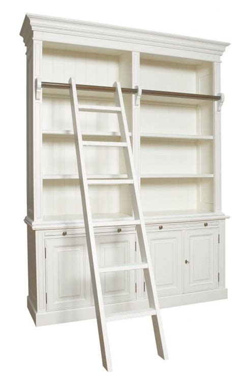 Where Can I Buy A Bookcase by Bookcase With Ladder Antique White Or Black