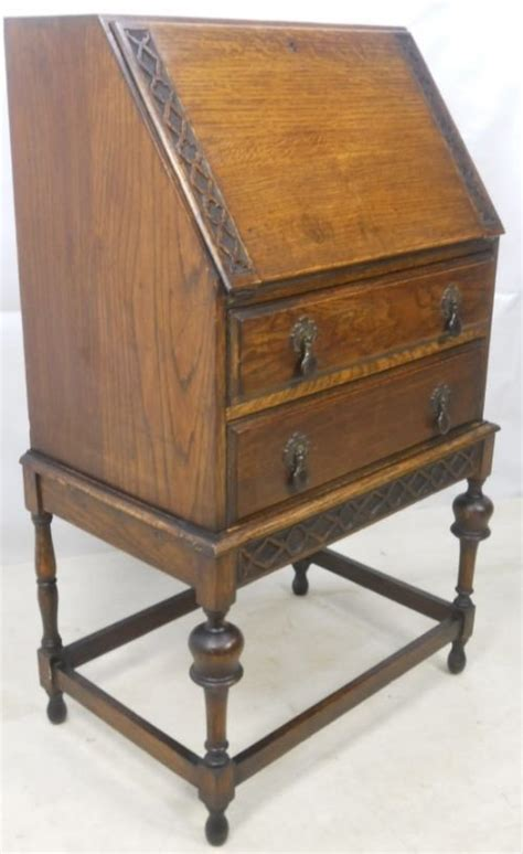 oak writing bureau uk small carved oak writing bureau 80318 sellingantiques