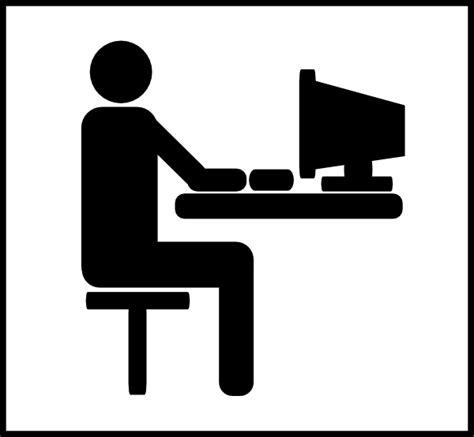 pictogramme bureau desk work clip at clker com vector clip