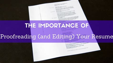 Proofreading Your Resume by Proofreading Editing Your Resume