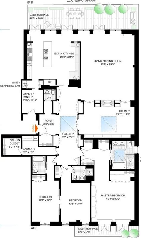 gwyneth paltrows tribeca penthouse floor plans home