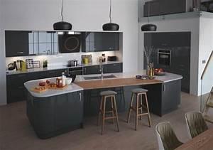 Table De Cuisine Grise : cuisine gris anthracite 56 id es pour une cuisine chic et moderne ~ Teatrodelosmanantiales.com Idées de Décoration