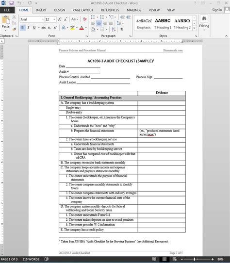 brilliant template samples  audits thogati