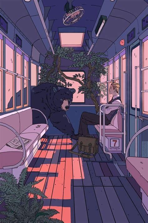 blue anime aesthetic bedroom