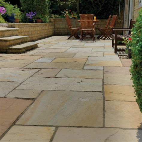 pavestone buff paving slabs paving superstore